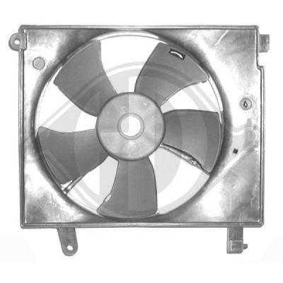 Ventilateur, condenseur de climatisation - Diederichs Germany - 6940001