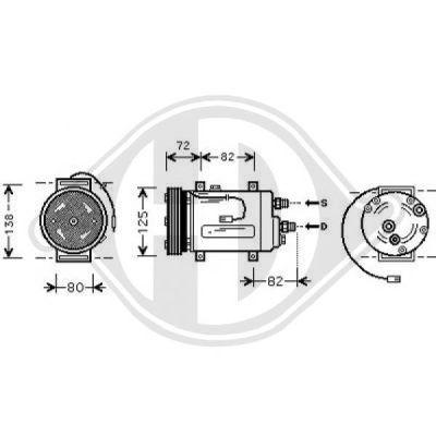 Compresseur, climatisation - Diederichs Germany - 7101602