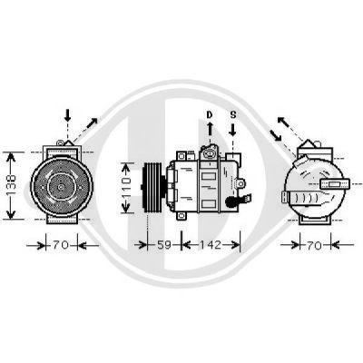 Compresseur, climatisation - Diederichs Germany - 7103100