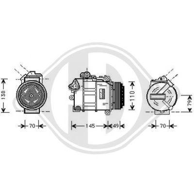 Compresseur, climatisation - Diederichs Germany - 7122300