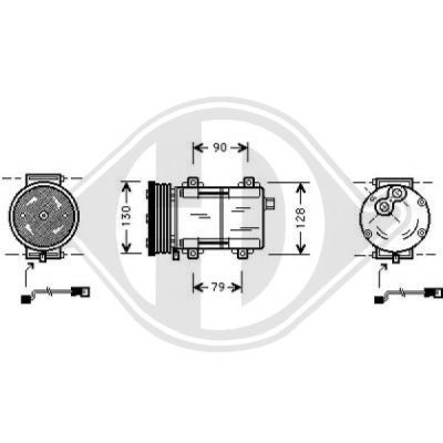 Compresseur, climatisation - HDK-Germany - 77HDK7149000