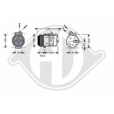 Compresseur, climatisation - Diederichs Germany - 7169002