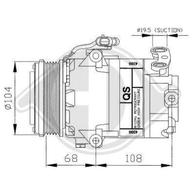 Compresseur, climatisation - Diederichs Germany - 7180500