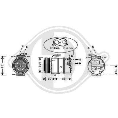 Compresseur, climatisation - Diederichs Germany - 7180501