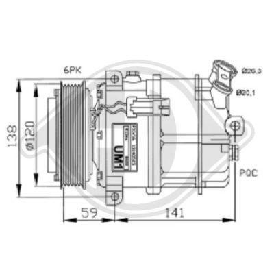 Compresseur, climatisation - Diederichs Germany - 7182500