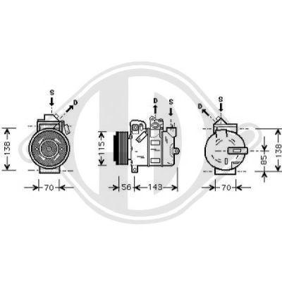 Compresseur, climatisation - Diederichs Germany - 7189000
