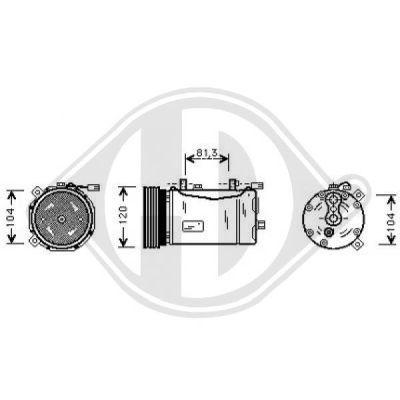 Compresseur, climatisation - Diederichs Germany - 7221200