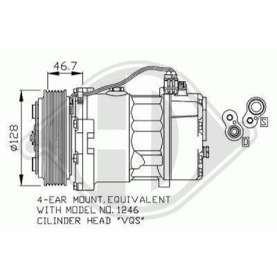 Compresseur, climatisation - HDK-Germany - 77HDK7227000