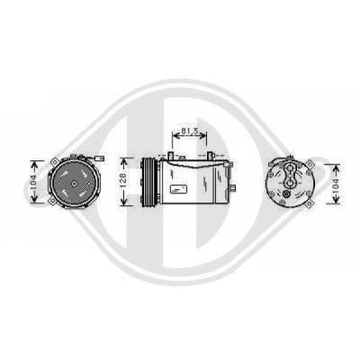 Compresseur, climatisation - Diederichs Germany - 7227001