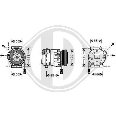 Compresseur, climatisation - Diederichs Germany - 7345300