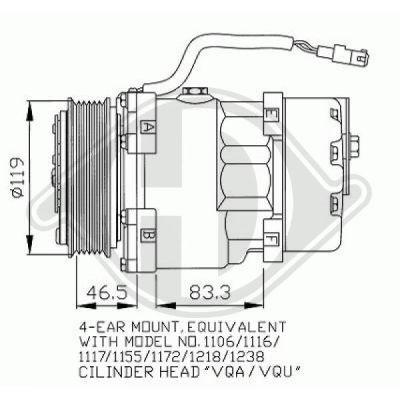 Compresseur, climatisation - Diederichs Germany - 7349000