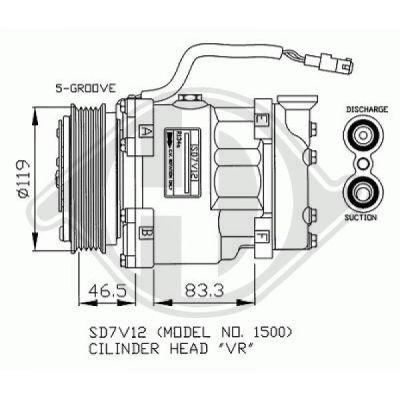Compresseur, climatisation - Diederichs Germany - 7421000