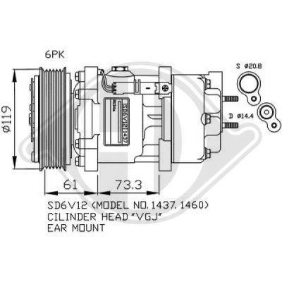 Compresseur, climatisation - Diederichs Germany - 7422500