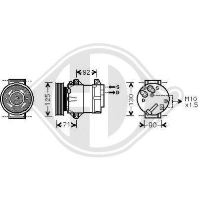 Compresseur, climatisation - HDK-Germany - 77HDK7446400