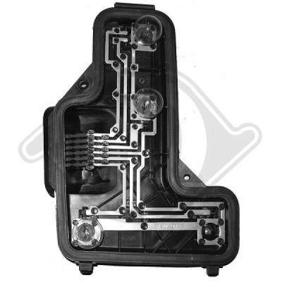 Support de lampe, feu arrière - HDK-Germany - 77HDK7450093