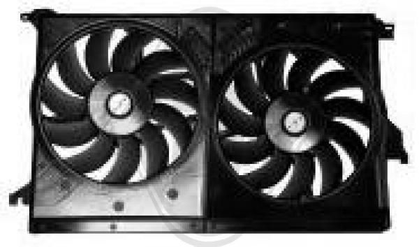 Ventilateur, condenseur de climatisation - Diederichs Germany - 7513101