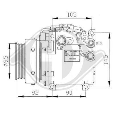 Compresseur, climatisation - Diederichs Germany - 7582400