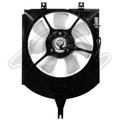 Ventilateur, condenseur de climatisation - Diederichs Germany - 7613001