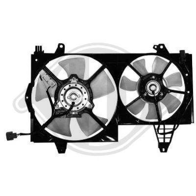 Ventilateur, condenseur de climatisation - Diederichs Germany - 7613201
