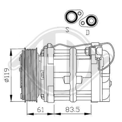 Compresseur, climatisation - Diederichs Germany - 7762100