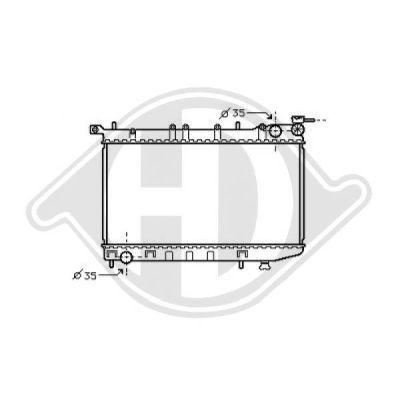 Radiateur, refroidissement du moteur - Diederichs Germany - 8070430