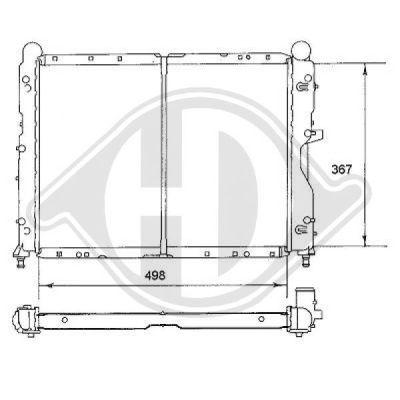 Radiateur, refroidissement du moteur - Diederichs Germany - 8100103