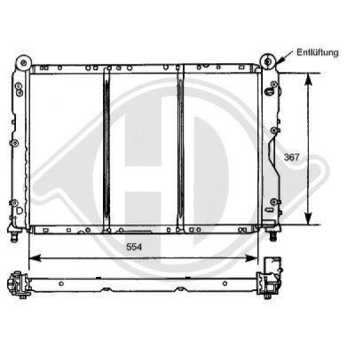 Radiateur, refroidissement du moteur - Diederichs Germany - 8100105