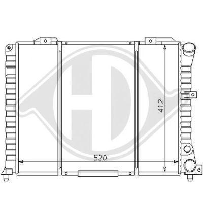 Radiateur, refroidissement du moteur - Diederichs Germany - 8100110
