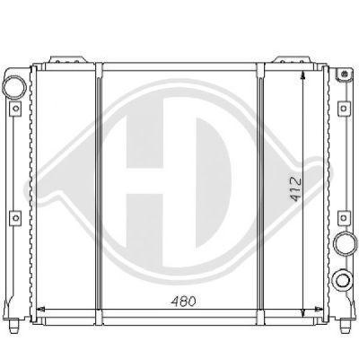 Radiateur, refroidissement du moteur - Diederichs Germany - 8100118