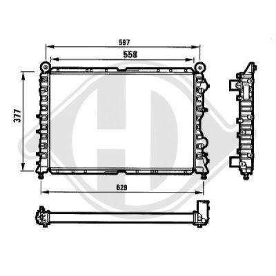 Radiateur, refroidissement du moteur - HDK-Germany - 77HDK8100119