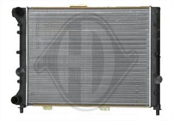 Radiateur, refroidissement du moteur - Diederichs Germany - 8100121