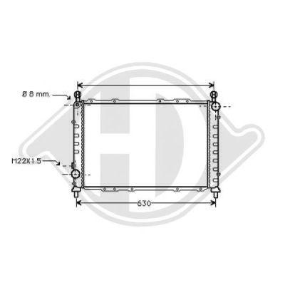 Radiateur, refroidissement du moteur - Diederichs Germany - 8100123