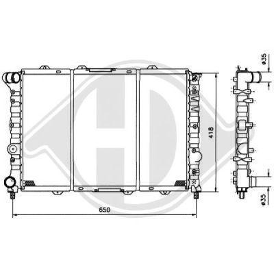 Radiateur, refroidissement du moteur - Diederichs Germany - 8100124