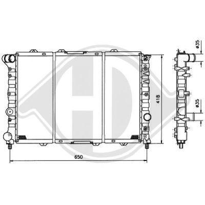 Radiateur, refroidissement du moteur - HDK-Germany - 77HDK8100125