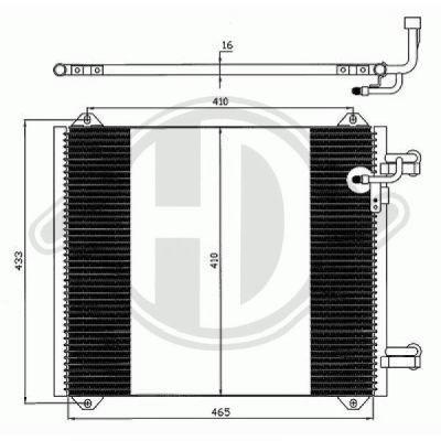 Condenseur, climatisation - HDK-Germany - 77HDK8100500
