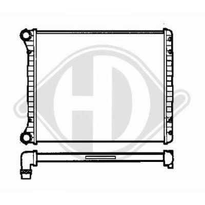 Radiateur, refroidissement du moteur - Diederichs Germany - 8100506