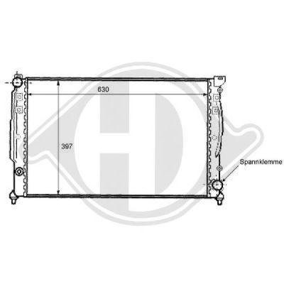 Radiateur, refroidissement du moteur - Diederichs Germany - 8101103