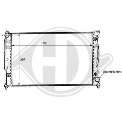 Radiateur, refroidissement du moteur - HDK-Germany - 77HDK8101104