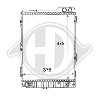 Radiateur, refroidissement du moteur - Diederichs Germany - 8101105