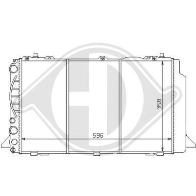 Radiateur, refroidissement du moteur - Diederichs Germany - 8101122