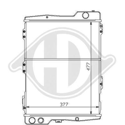 Radiateur, refroidissement du moteur - HDK-Germany - 77HDK8101123