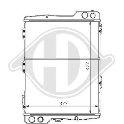 Radiateur, refroidissement du moteur - HDK-Germany - 77HDK8101124