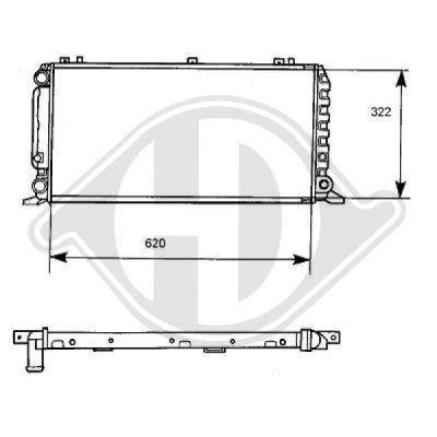 Radiateur, refroidissement du moteur - Diederichs Germany - 8101128