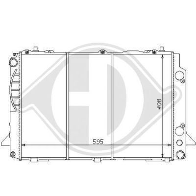 Radiateur, refroidissement du moteur - Diederichs Germany - 8101131