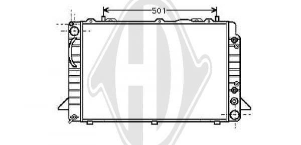 Radiateur, refroidissement du moteur - Diederichs Germany - 8101132