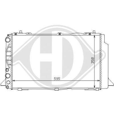 Radiateur, refroidissement du moteur - HDK-Germany - 77HDK8101133