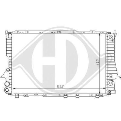 Radiateur, refroidissement du moteur - Diederichs Germany - 8101136