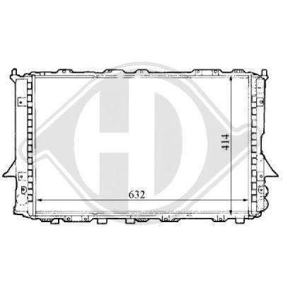 Radiateur, refroidissement du moteur - Diederichs Germany - 8101138