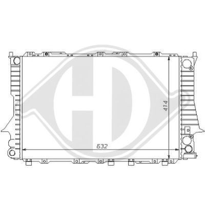 Radiateur, refroidissement du moteur - Diederichs Germany - 8101141