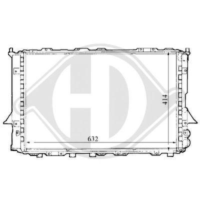 Radiateur, refroidissement du moteur - Diederichs Germany - 8101144